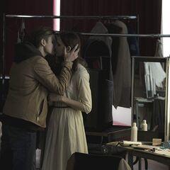 Backstage kiss