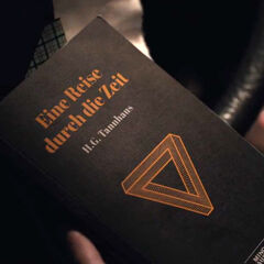 Claudia opens her book