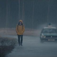 Jonas in the rain