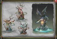 RSP Daemon statues and fountain concept art