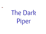 The Dark Piper (Song)
