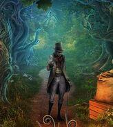Blaise on the path