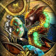 Eel door mural