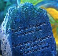 Swan-kingdom-welcome-stone