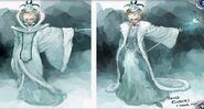 Snow Queen coat concept art