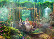 BOR - Belladonna and Rapunzel in a swing