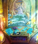 Sea goddess fresco