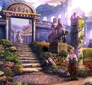 Pinocchio in garden