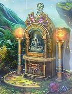 Flora bust shrine