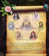 Goddess flora tale scroll