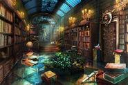 Underground castle library