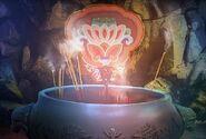 Oriental magic fan