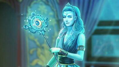 Moon goddess wand