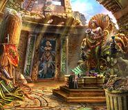 Sea goddess mural