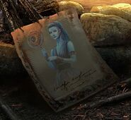 Moon goddess parchment
