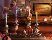 Flora candle altar