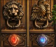 Fire and ice door