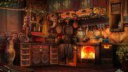 Oriental cottage kitchen
