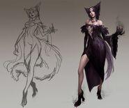Wolf queen concept art
