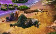 Althea crawling seashore