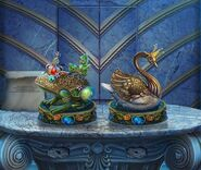 Tsp-frog-and-swan-figurines
