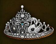 Swan tiara