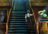 Pinocchio on palace stairs
