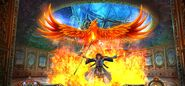 Giselle summoning a phoenix