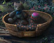 Parn kitten basket