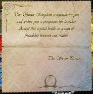TT&TTB Odile's Wedding Gift Message