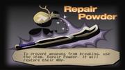 Repair powder info screen from Dark Cloud