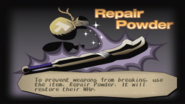 Repair powder info screen from Dark Cloud