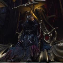 Emperor SkekSo, atop his throne