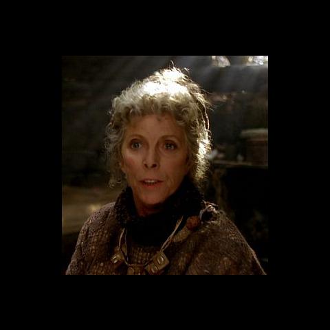Billie Whitelaw as Auntie Ambrosia in <i>Merlin</i>