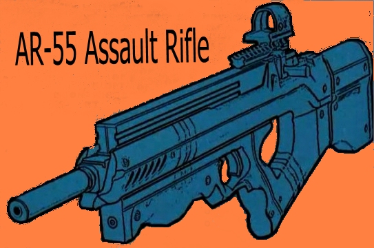 DoD AR-55 Assault Rifle 01a