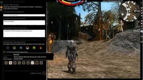 Darkfall Unholy Wars Clan Management Video