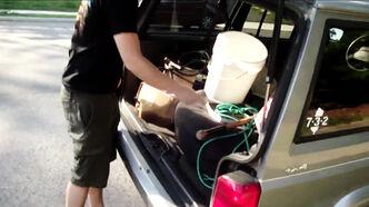 Loading the van