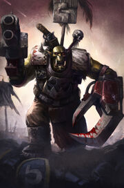 Blood and Thunder Ork Warboss by wraithdt