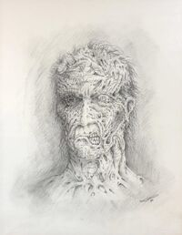 Darkman face concept art