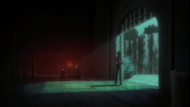 Yoruichi brings Ichigo and Rukia to a cave