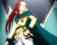 Erza acting as a prince