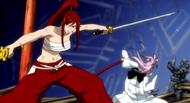 Erza defeats Ikaruga