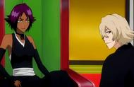 Urahara speaks with Yoruichi