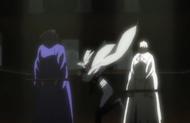 Yoruichi arrives to save Urahara and Tessai