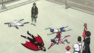 Urahara puts Kon and the humans to sleep