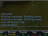 Quitting Runescape scam