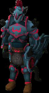 Zamorak armour set (lg) equipped