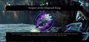 Scepter despoed king