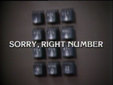 Sorry, Right Number