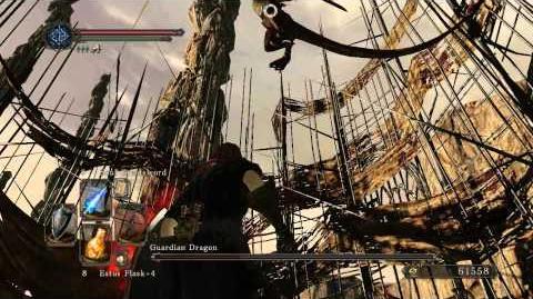 DarkSouls II, Guardian Dragon,Sorcerer's tactics